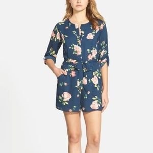 Cupcakes and Cashmere Navy Floral El Rey Romper 6